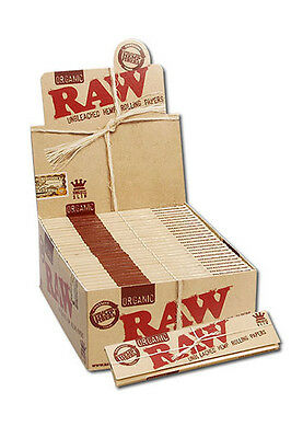 RAW Organic Hemp King Size Slim Classic Rolling Papers Natural Hemp Gum