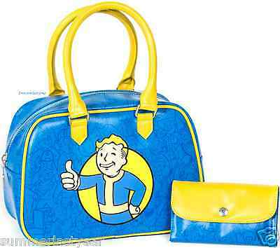 Fallout Vault Boy Thumbs Up Handbag And Clutch Set ~Bethesda~ Free Priority Ship