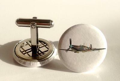 Mens Cuff links  RAF Spitfire