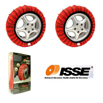 Pair Of ISSE Tribologic Safety Snow Grip Socks For 205/55 R16 Like Chains 205/55