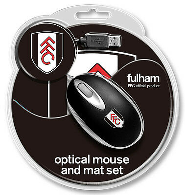 Official Fulham Usb Mini Mouse And Crest Mouse Mat/ New Srp £14.99
