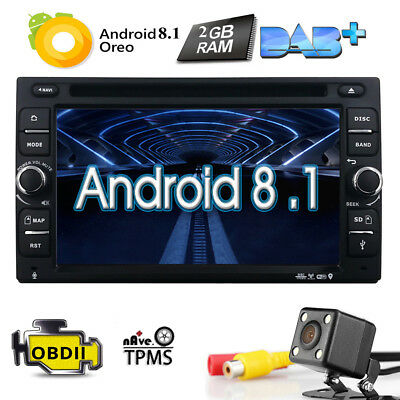 "Quad-Core Android 5.1 Universal 2 Din 6.2""Car DVD Player Stereo GPS Radio+Camera"