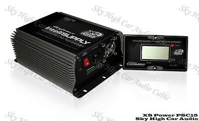 XS Power PSC15 15 Amp Power Supply & Battery Charger 12 - 16 Volt w/ LCD Screen