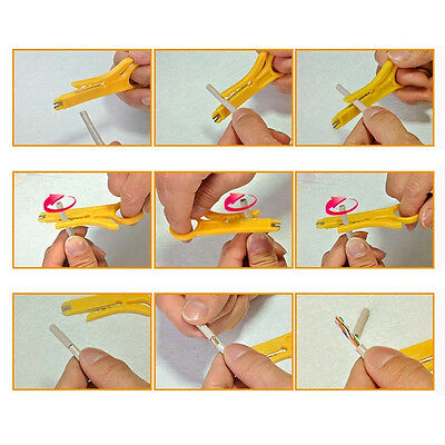 Yellow 2X Network Lan Wire Cable Punch Down Cutter Stripper UTP for RJ45 Cat5/6
