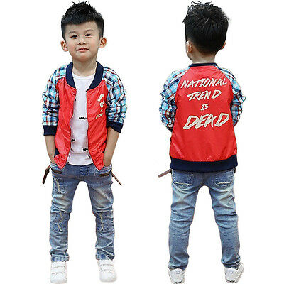 Toddler Kids Baby Boys Stylish Slim Fit Denim Jeans Casual Pants Trousers New