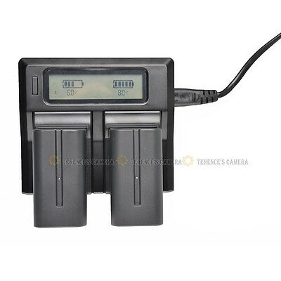 Dual Channel LCD Digital Battery Charger For SONY NP-FV100 FV70 FV50 FV30 FH100