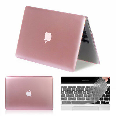 """Rose Gold Rubberized Case Cover for MacBook Air 11/13"""" Pro 13/15"""" Retina 12 Inch"""