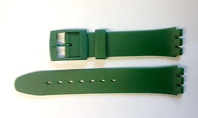 Replacement 17mm (20mm) Watch Strap for SWATCH - Dark Green Resin