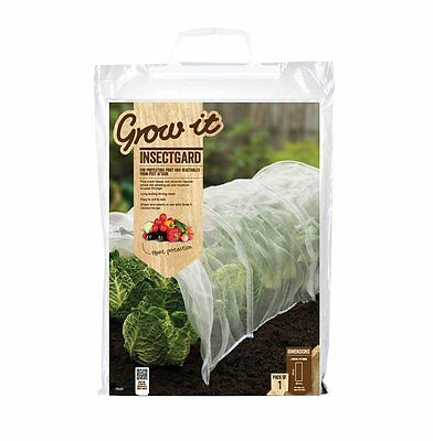 Grow it Garden Insect Guard Net Canvas, Polyethylene Netting, 6x2m