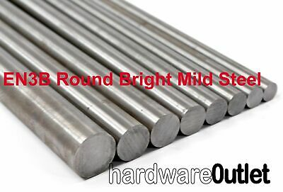 EN3B Bright Mild Steel Round Bar - The Best Quality & Cut To 300 500 600 & 900mm