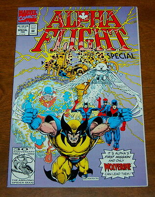 Alpha Flight Special 1992 Marvel Comics VF/NM Wolverine Leads Them!