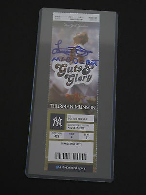 Authentic Luis Severino Signed Mlb Debut Ticket New York Yankees Steiner