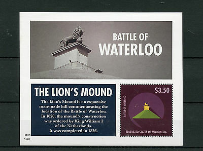 Micronesia 2015 MNH Battle of Waterloo 1v S/S Lion's Mound