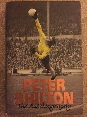 Signed Peter Shilton Autobiography Book Derby Forest Leicester England + Proof