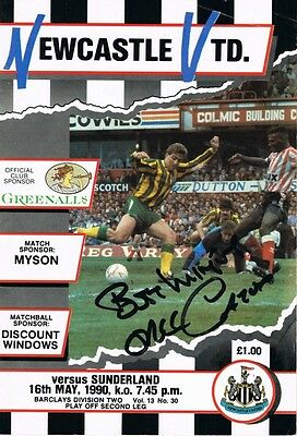 Signed Eric Gates Sunderland v Newcastle Play Off Semi Final Autograph Programme