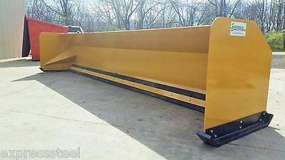16' Snow Pusher Boxes backhoe loader snow plow Express Steel