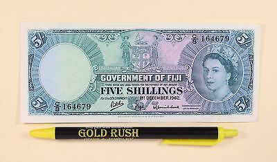 1962 Government of Fiji 5 Five Shillings Banknote P# 51c Exceptional Quality