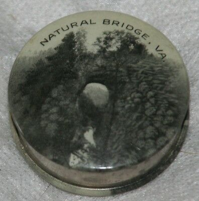 ANTIQUE NATURAL BRIDGE,VIRGINIA tape measure-RARE in BLACK & WHITE