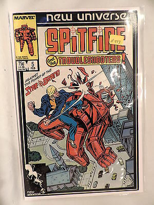 #5 Spitfire and the Troubleshooters 1986 Marvel Comics B773