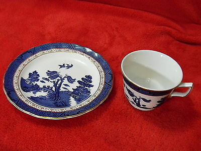 ROYAL DOULTON - REAL OLD WILLOW 2004 - 7 In LUNCHEON & COFFEE CUP - GOLD TRIM
