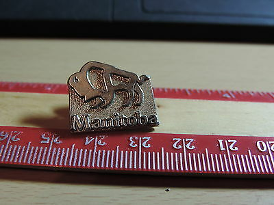 Manitoba Bison Buffalo   Lapel Hat Pin 1E