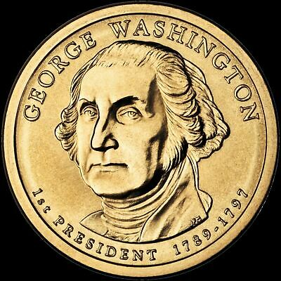 "2007 P George Washington Presidential Dollar ""Brilliant Uncirculated"" Coin"