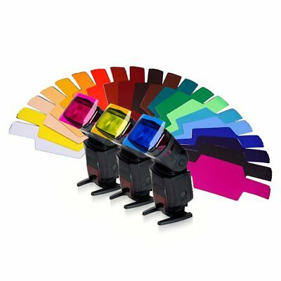 20 Color Photographic Color Gels Filter for Canon Nikon Yongnuo Flash Speedlite