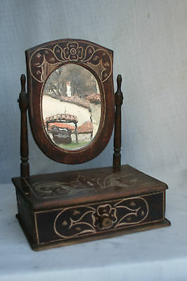 Carved Boudoir Mirror