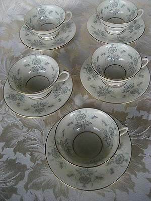 Beautiful Set of 5 Castleton Caprice Cups & Saucers