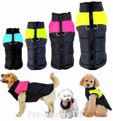 SMALL to EXTRA LARGE dog waterproof warm winter quality coat jacket clothes new