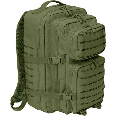 Brandit Large 40L Us Cooper Pack Lasercut Rucksack Hunting Patrol Backpack Olive