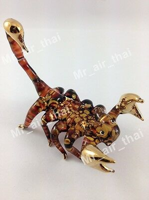Tiny Crystal Scorpion Hand Blown Clear Glass Art Figurine Animal Collection