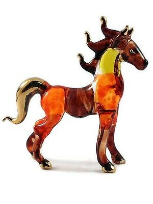 Tiny Crystal Horse Hand Blown Clear Glass Art Horse Figurine Animal Collection 3