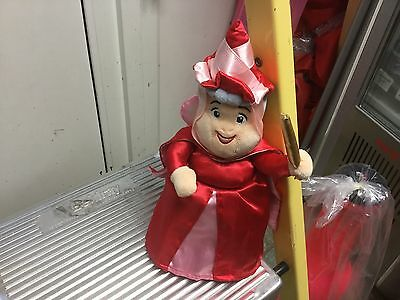 """Official Disney Sleeping Beauty Fairy Godmother Flora In Red Soft Toy Doll10"""""""