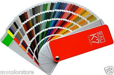 RAL K7 Classic Colour Chart | New RAL Fan style guide | Package of 5