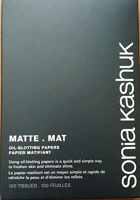 Sonia Kashuk  BLOTTERS MATT OIL BLOTTING PAPER OIL CONTROL TISSUE 100 SHEETS