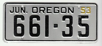 [57338] 1953 General Mills Cereal Prize Oregon License Plate