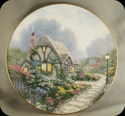 Thomas Kinkade Chandlers Cottage Collector Plate