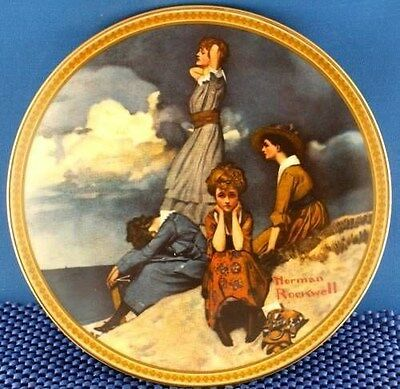Norman Rockwell Waiting on The Shore  Collector Plate.
