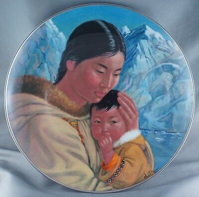 Nori Peter Motherhood People of the Midnight Sun Collector Plate RARE Artist Sig