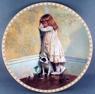 """Charles Burton Barber The Original """" In Disgrace """"  Collector Plate"""