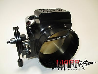 Black 92mm LS Throttle Body - 4 Bolt - LS1 LS2 LS3 LS6 LSX - WARR Performance