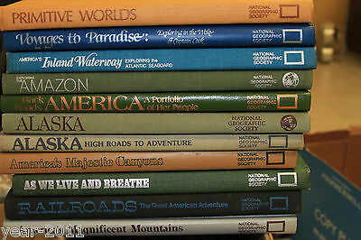 SET OF 19 NATIONAL GEOGRAPHIC SOCIETY HARD BACK BOOKS America Canada War Alaska