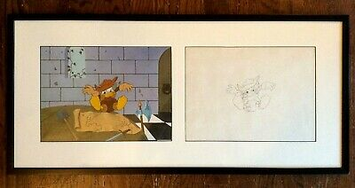 Disney Donald Duck Cel and Sketch - Animation - Framed and Matted