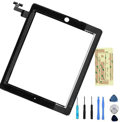 New Black Replacement Touch Screen Glass display Digitizer Front For iPad 2G CA
