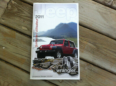 Jeep WRANGLER - 2011 - Owner's Manual - IN FRENCH - XF