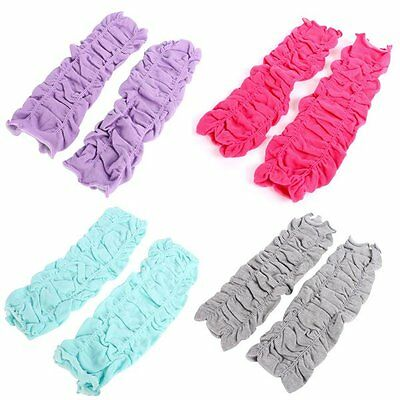 Multi-Color Child Kids Baby Leg Warmer Elastic Cotton Wrinkled Knee Pad A51