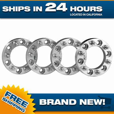 4 6x5.5 Wheel Spacers Adapters 12x1.5 studs 1 inch thick 6 lug Toyota Chevy GMC