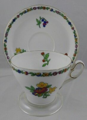 Vintage Shelley Floral Pattern Teacup & Saucer