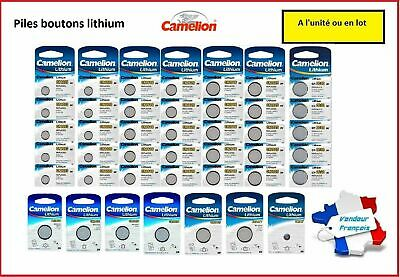 Piles bouton Camelion 3V Lithium CR2032/2025/2016/1225/1220/1216